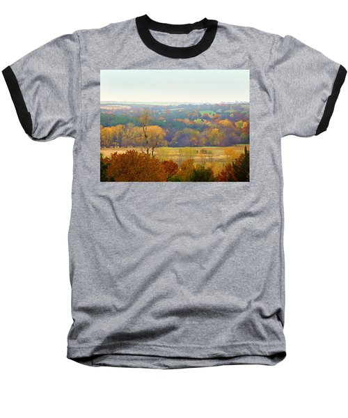 Across The River In Autumn Baseball T-Shirt