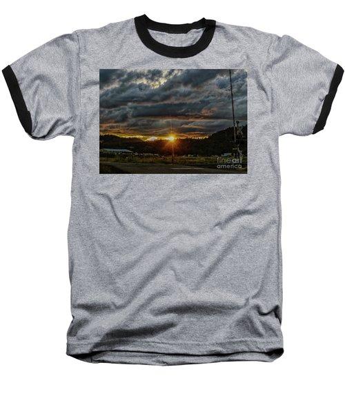 Across The Tracks Baseball T-Shirt by Billie-Jo Miller
