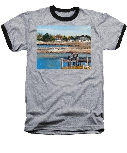 Across The White Oak Baseball T-Shirt by Jim Phillips