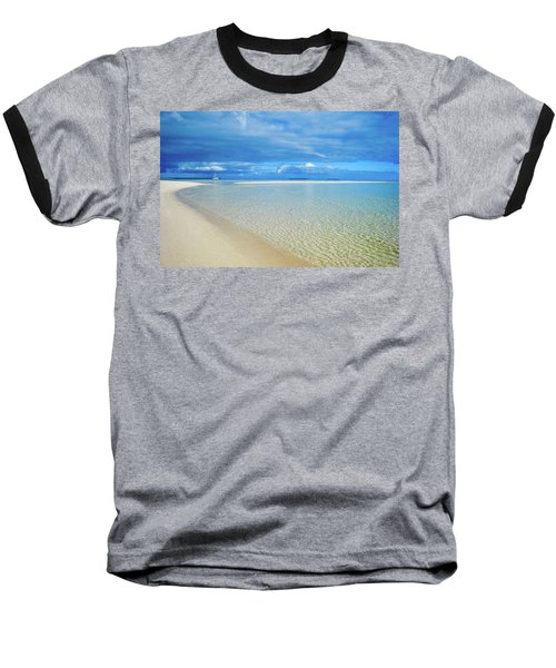 Adagio Alone In Ouvea, South Pacific Baseball T-Shirt