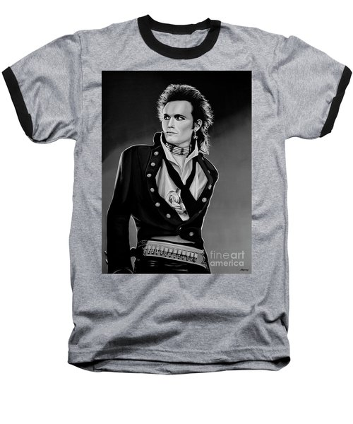 Adam Ant Painting Baseball T-Shirt by Paul Meijering