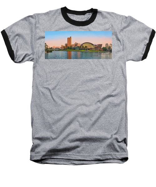Adelaide Riverbank Panorama Baseball T-Shirt