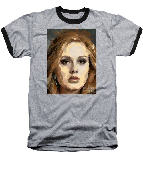 Adele Baseball T-Shirt by Dragica Micki Fortuna