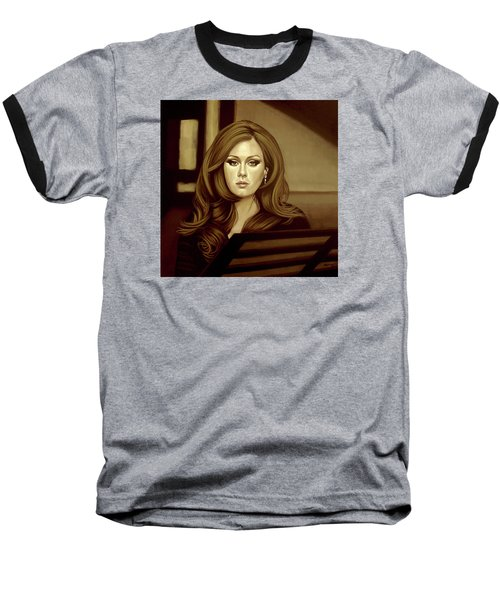 Adele Gold Baseball T-Shirt by Paul Meijering