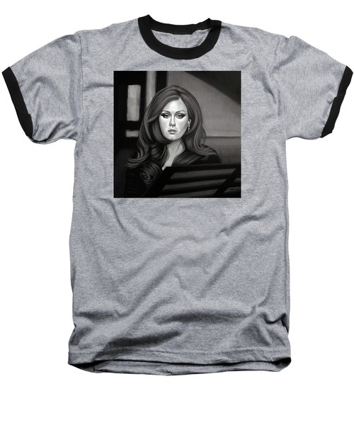 Adele Mixed Media Baseball T-Shirt by Paul Meijering