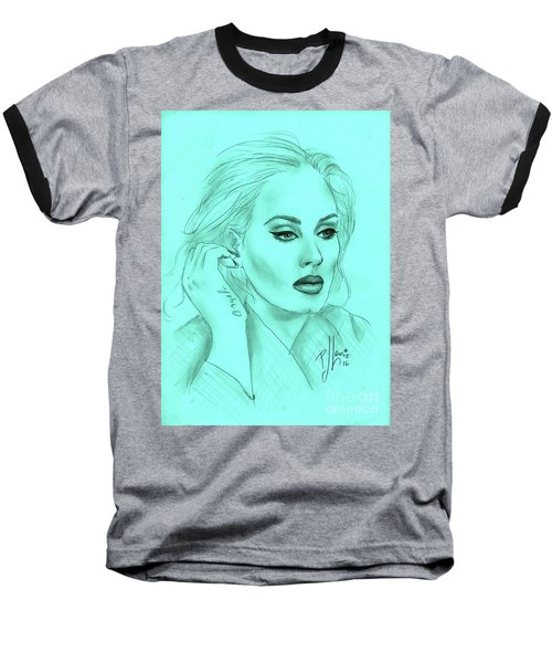 Adele Baseball T-Shirt by P J Lewis