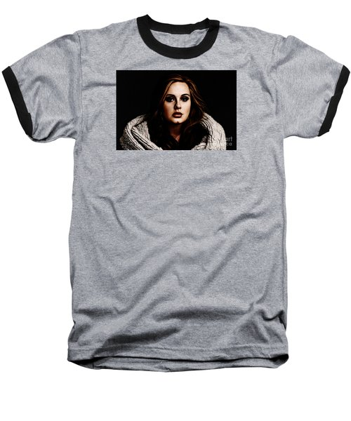 Adele Baseball T-Shirt by The DigArtisT