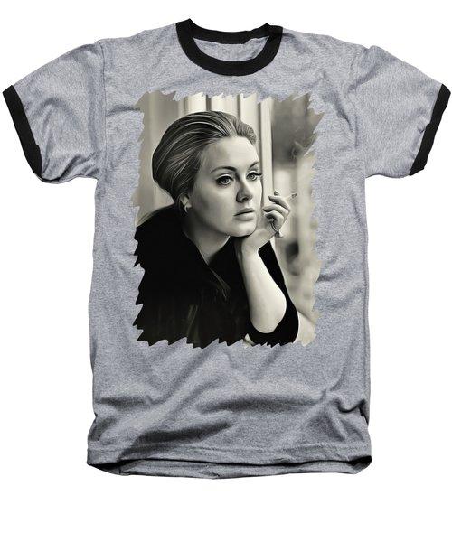 Adele Baseball T-Shirt by Twinkle Mehta