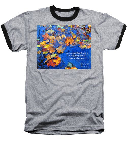 Baseball T-Shirt featuring the photograph Adironack Laughing Water Charity by Diane E Berry