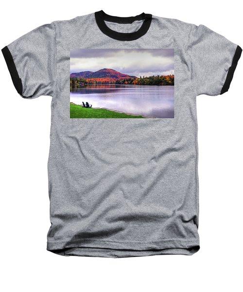 Adirondack Chairs In The Adirondacks. Mirror Lake Lake Placid Ny New York Mountain Baseball T-Shirt