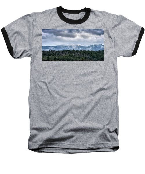 Baseball T-Shirt featuring the photograph Adirondack High Peaks During Winter - New York by Brendan Reals
