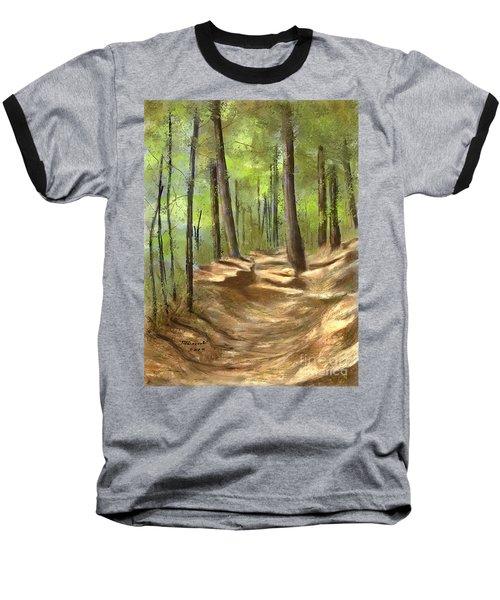 Adirondack Hiking Trails Baseball T-Shirt by Judy Filarecki