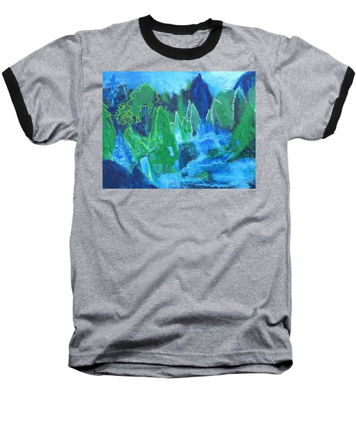 Baseball T-Shirt featuring the painting Adirondack Spring by Betty Pieper