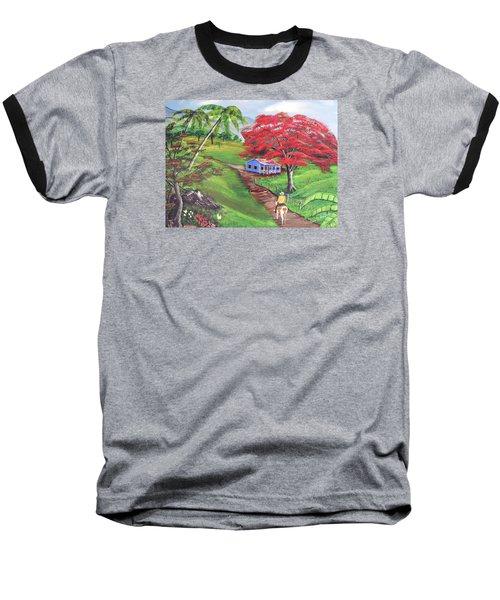 Admirando El Campo Baseball T-Shirt by Luis F Rodriguez