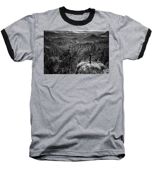 Baseball T-Shirt featuring the photograph Needles Point South Dakota by Jason Moynihan