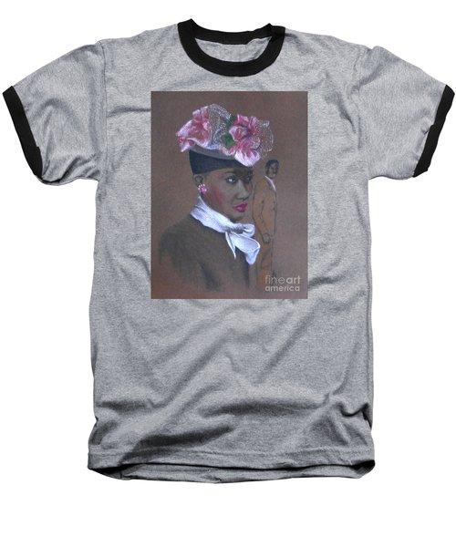 Admirer, 1947 Easter Bonnet -- The Original -- Retro Portrait Of African-american Woman Baseball T-Shirt
