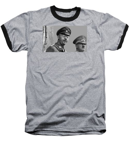 Adolf Hitler And Gestapo Head Heinrich Himmler Watching Parade Of Nazi Stormtroopers 1940-2015 Baseball T-Shirt by David Lee Guss