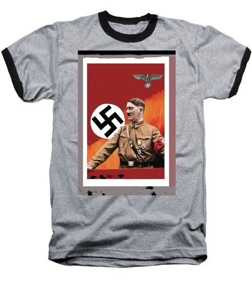 Adolf Hitler In Color With Nazi Symbols Unknown Date Additional Color Added 2016 Baseball T-Shirt