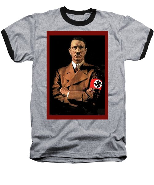 Adolf Hitler Painting Circa  1940 Color Added 2016 Baseball T-Shirt