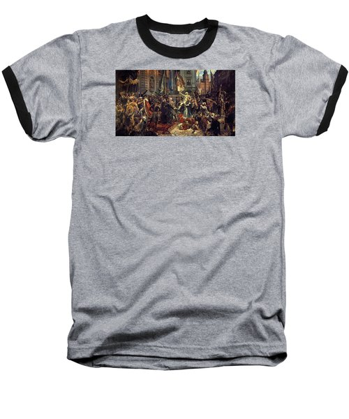 Adoption Of The 1791 Polish Constitution Baseball T-Shirt by Jan Matejko