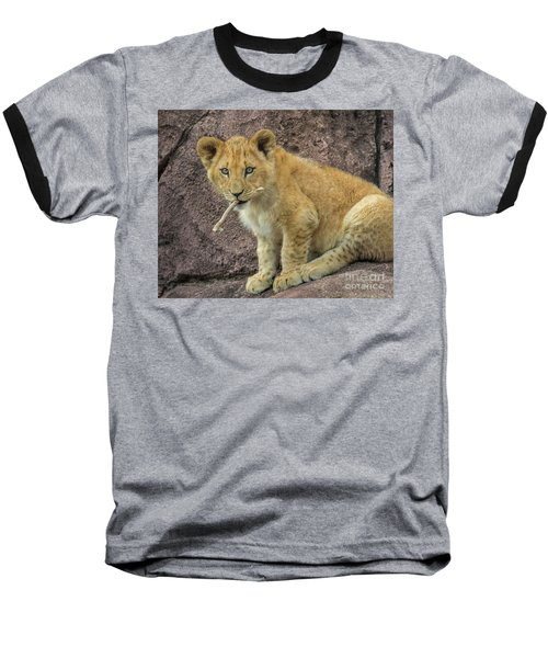 Adorable Lion Cub Baseball T-Shirt