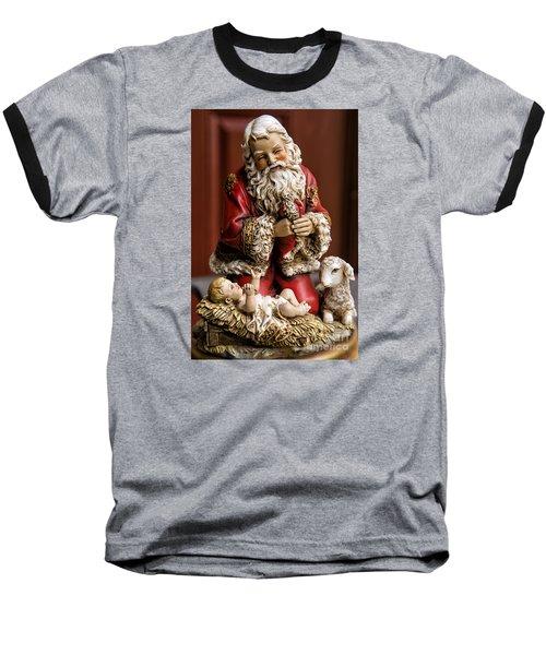 Adoring Santa Baseball T-Shirt
