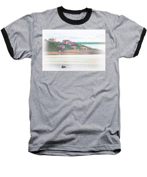 Adrift On The Bay At Sunset Baseball T-Shirt