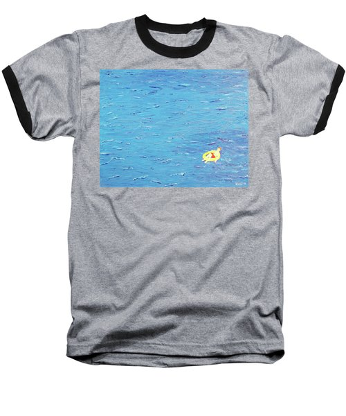 Baseball T-Shirt featuring the painting Adrift by Thomas Blood