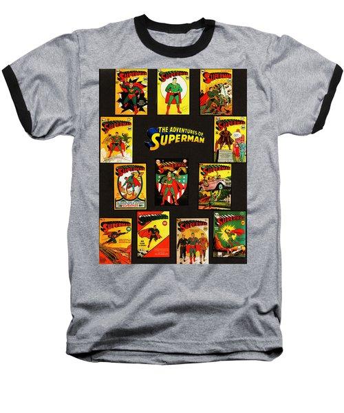 Adventures Of Superman Baseball T-Shirt