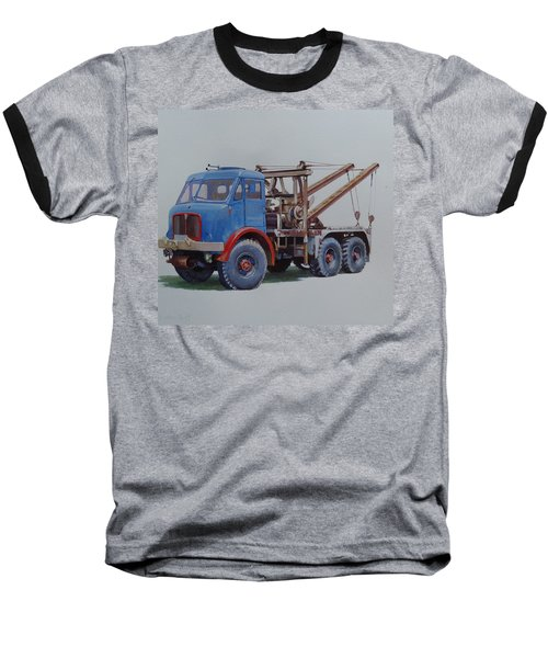Baseball T-Shirt featuring the painting Aec Militant Wrecker. by Mike Jeffries