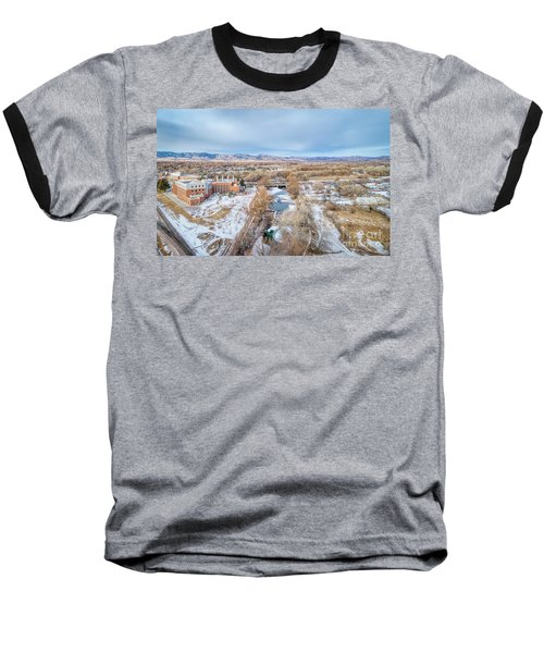 aerial cityscape of Fort Collins Baseball T-Shirt