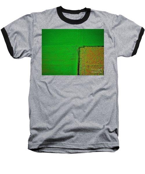 Aerial Farm Mchenry Il  Baseball T-Shirt by Tom Jelen