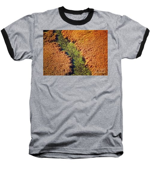 Aerial Farm Stream Lillies  Baseball T-Shirt