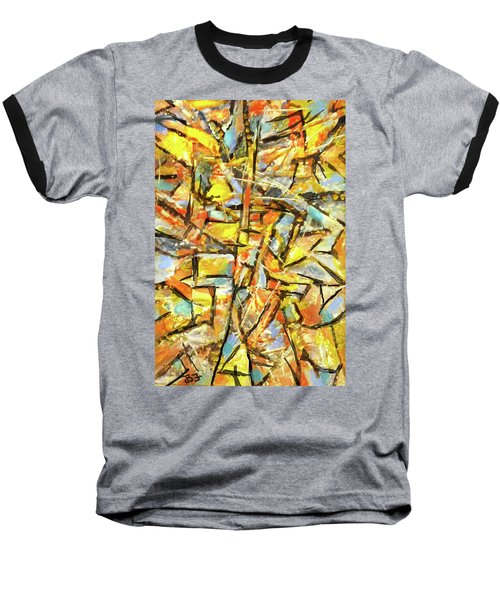Aerial In Gold Baseball T-Shirt