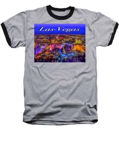 Aerial Las- Vegas Evening Baseball T-Shirt