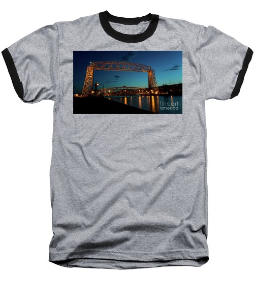 Aerial Lift Bridge Baseball T-Shirt