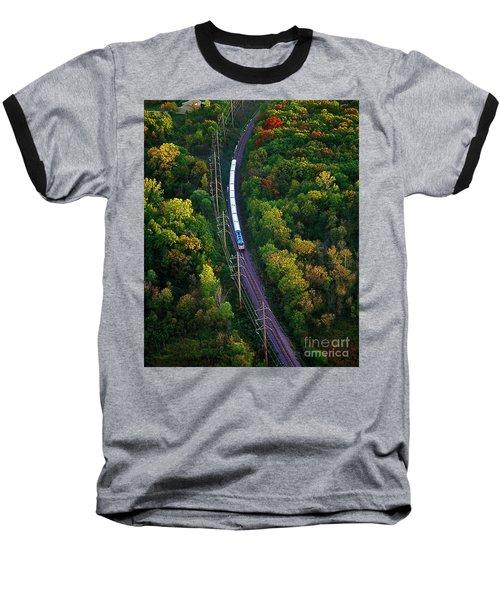 Aerial Of  Commuter Train  Baseball T-Shirt