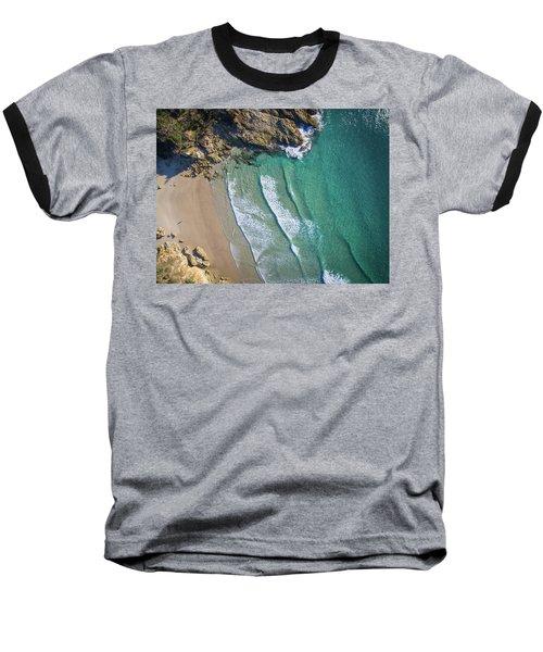 Aerial Shot Of Honeymoon Bay On Moreton Island Baseball T-Shirt