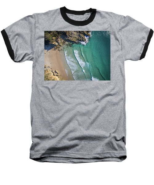 Aerial Shot Of Honeymoon Bay On Moreton Island Baseball T-Shirt