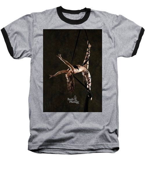 Aerial Splits With Black Silks Baseball T-Shirt