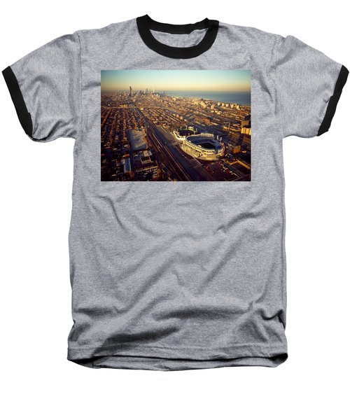 Aerial View Of A City, Old Comiskey Baseball T-Shirt by Panoramic Images