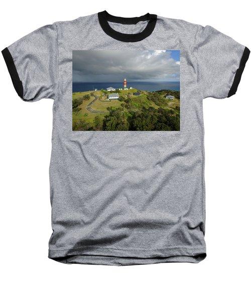 Aerial View Of Cape Moreton Lighthouse Precinct Baseball T-Shirt