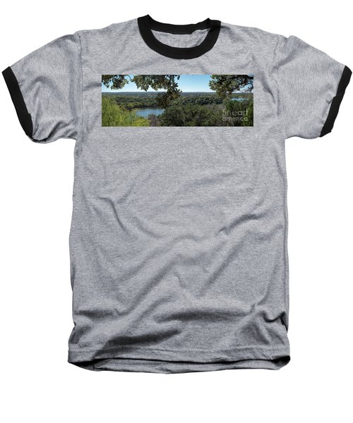 Aerial View Of Large Forest And Lake Baseball T-Shirt