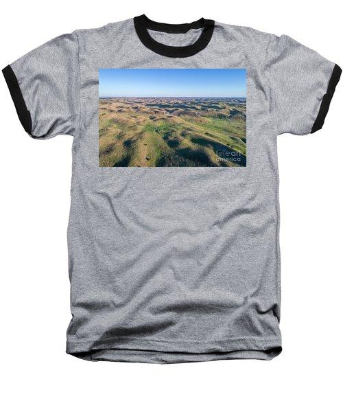 aerial view of Nebraska Sand Hills  Baseball T-Shirt