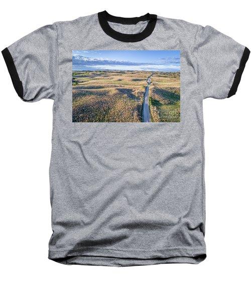 aerial view of Nebraska Sandhills  Baseball T-Shirt