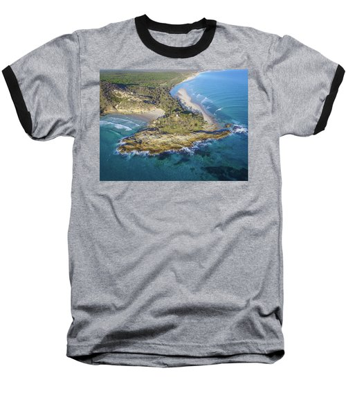 Aerial View Of North Point, Moreton Island Baseball T-Shirt