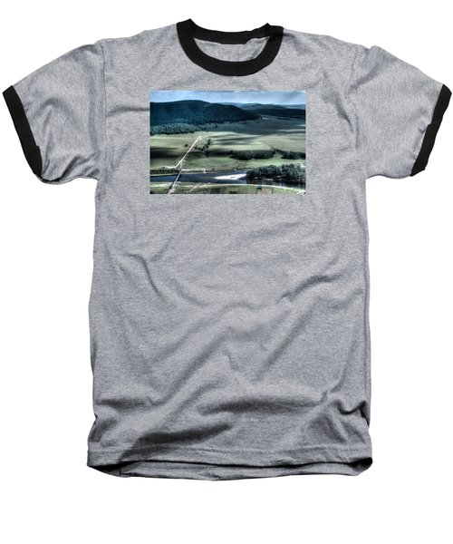 Aerial View Of Rolling Russian Hills Baseball T-Shirt by John Williams