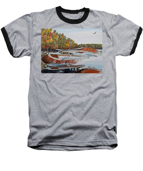 Baseball T-Shirt featuring the painting Aeronca Super Chief 0290 by Marilyn  McNish