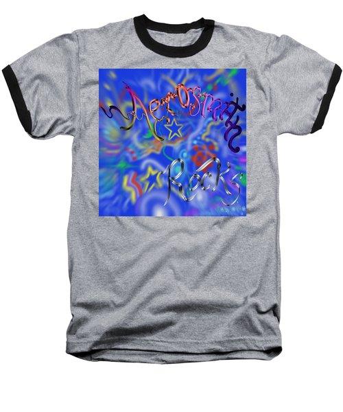 Aerosmith  Baseball T-Shirt by Kevin Caudill