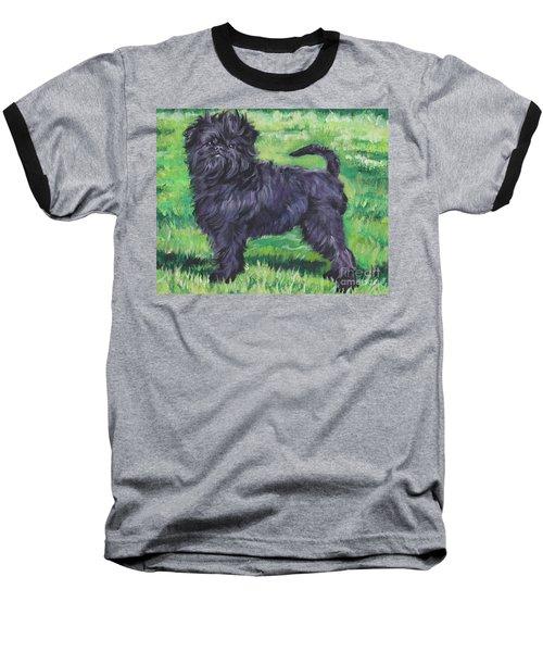 Baseball T-Shirt featuring the painting Affenpinscher by Lee Ann Shepard